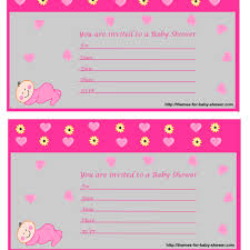 free baby shower invitation card template invitations templates
