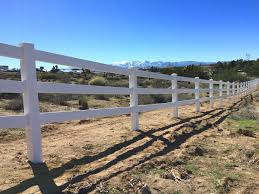 ranch style vinyl fence high desert all american fence erectors