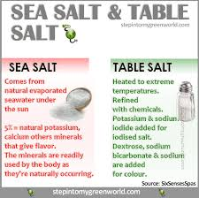 sea salt and table salt table salt vs sea salt health tips pinterest table salt sea