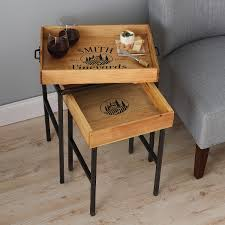 personalized trays personalized wine crate tray nesting tables wine enthusiast