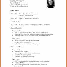 sle cv for job standard resume form template great free formidable format of
