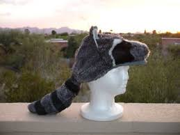 Raccoon Halloween Costumes Raccoon Mask Hat Halloween Costume Plush Daniel Boone Cap