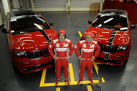 ferrari jeep ferrari flavored jeep grand cherokee srt8 handed over to massa and