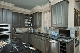 Gray Color Kitchen Cabinets by Gray Painted Kitchen Cabinets Enchanting Grey Painted Kitchen