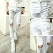 Skinny White Jeans Mens White Designer Jeans For Men Billie Jean