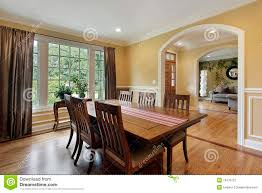 dining room with yellow walls stock image image 16476121
