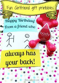 diy humorous girlfriend gift u2013 printables