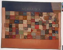 Map Of The State Of Kansas by Quilt Depicting A Map Of The State Of Kansas Kansas Memory
