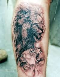 finger tattoo lioness lion and lioness finger tattoo
