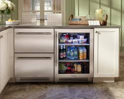 kitchen two tone kitchen cabinet design with undercounter kitchen two tone kitchen cabinet design with undercounter kitchen refrigerator and brown solid wood countertop