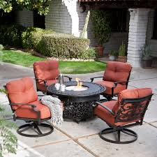 Patio Table With Firepit Belham Living Sorrento Pit Patio Set Hayneedle