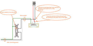 wire in ceiling light box 3 way switch wire common light