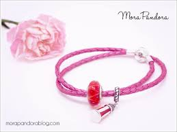 pink leather bracelet images Review honeysuckle pink leather bracelet from pandora summer 2016 png