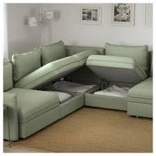 vallentuna 6 seat corner sofa with bed hillared green ikea