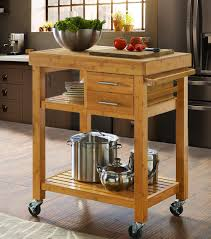 rolling bamboo kitchen island cart trolley cabinet w towel rack
