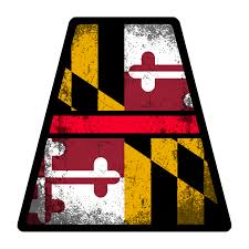 Maryland Flag Vinyl Maryland Decals U2013 American Responder Designs