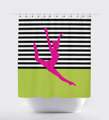 lime silhouette custom dance themed shower curtain for girls stripes u2013 shop