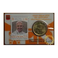 eurocoin eurocoins 50 cent vatican 2016 official coin card with sta