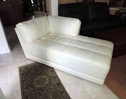 Leather Chaise Lounge Macy U0027s Traverso Modern White Leather Chaise Lounge We Ship