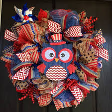 Fourth Of July Door Decorations Best Mesh Wreaths Summer Products On Wanelo