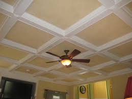 ceiling coffered ceiling in natural brown wood and white with