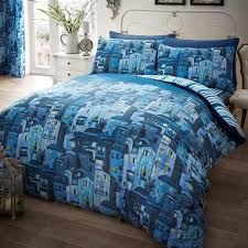 just contempo union jack duvet cover set double blue amazon co