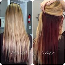 Red Hair Color With Highlights Pictures Blonde And Red Hair Blonde Highlights And Red Hidden Underneath