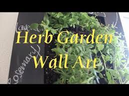 our herb garden wall art youtube