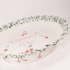 personalized pie plate ceramic cherry pie plate personalized pie plate ceramic cherry pie