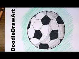 drawing how to draw cartoon soccer balls footballs easy