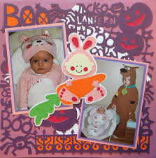 babys 1st halloween scrapbook page baby u0027s 1st halloween layout with a bunny rabbit