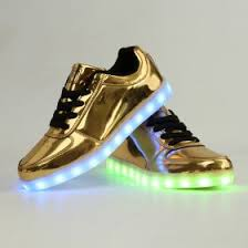 gold light up sneakers light up shoes