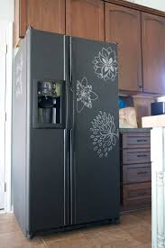 diy painting your fridge with chalkboard paint the handmade home