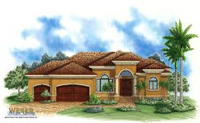 Tuscan Farmhouse Plans by Spanish House Plans Mediterranean Style Greatroom Courtyard