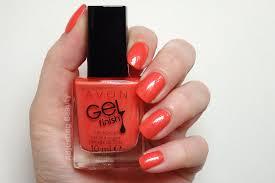 review avon gel finish nail enamels sheer coral pink