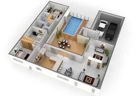 elegant floorplan 3d architecture nice