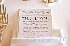 thank you wedding cards reception table setting custom thank you card thin style