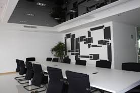 Black Meeting Table Interior Modern White Office Meeting Room With Black Meeting
