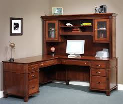 Executive Desk With Hutch Arlington Executive L Desk With Optional Hutch Top From Dutchcrafters