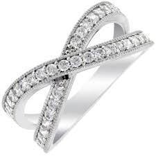 cross rings images Crislu cubic zirconia criss cross ring in sterling silver jpg