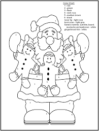 christmas color by number coloring pages getcoloringpages com
