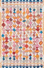 Cindy Crawford Rugs Marrakechkl08 Hand Tufted Vibrant Moroccan Diamond Shag Rug Shag