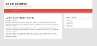 membuat website bootstrap belajar membuat template web menggunakan bootstrap