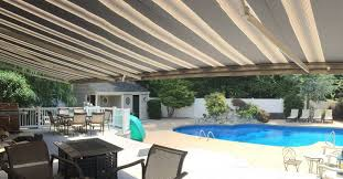 Retractable Awning With Bug Screen Retractable Awnings U0026 Screens Garden State Shade