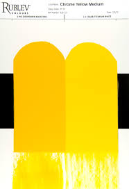 artists materials chrome yellow a primary color with a brief