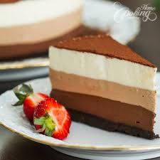 no bake triple chocolate mousse cake home cooking adventure