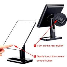 lmeison touch screen 20 led lighted makeup mirror with removable