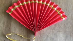 chinese fan diy kids craft for chinese new year youtube