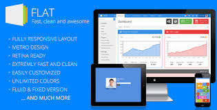 flat responsive admin template by eakroko themeforest