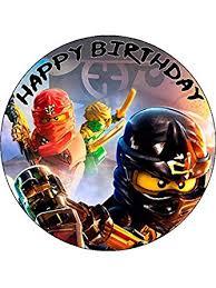 ninjago cake toppers lego ninjago 7 5 personalised birthday cake topper printed
